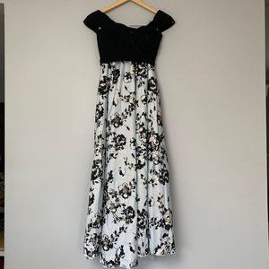 NWT Speechless 2-piece Formal Black/White Floral G